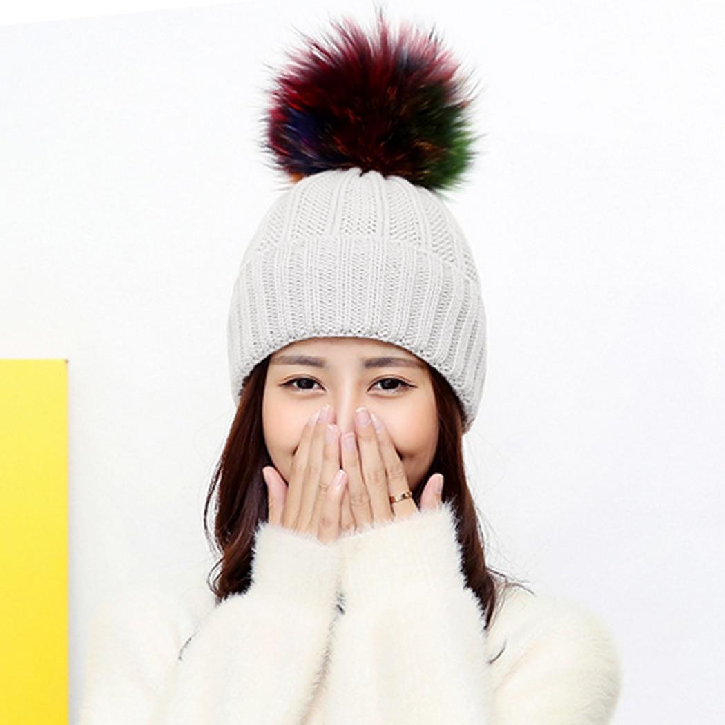 ᗜ LjഃModa sombrero de invierno de las mujeres Cuero no original ...