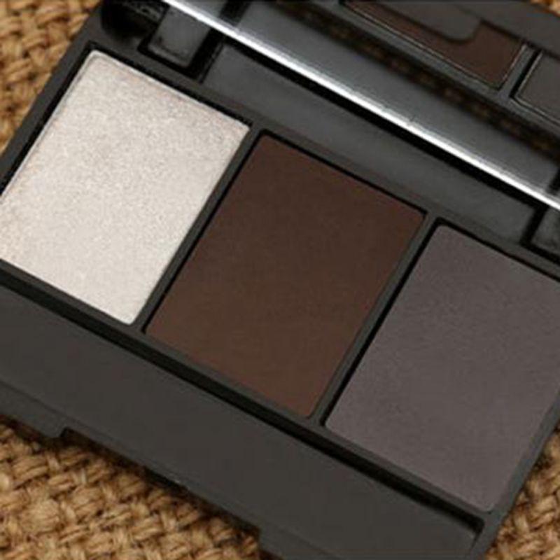 3 Colors Set Professional Makeup Eyeshadow Palette Eyebrow Makeup Palatte paleta de sombra Contour Palette Maquiagem Women 7
