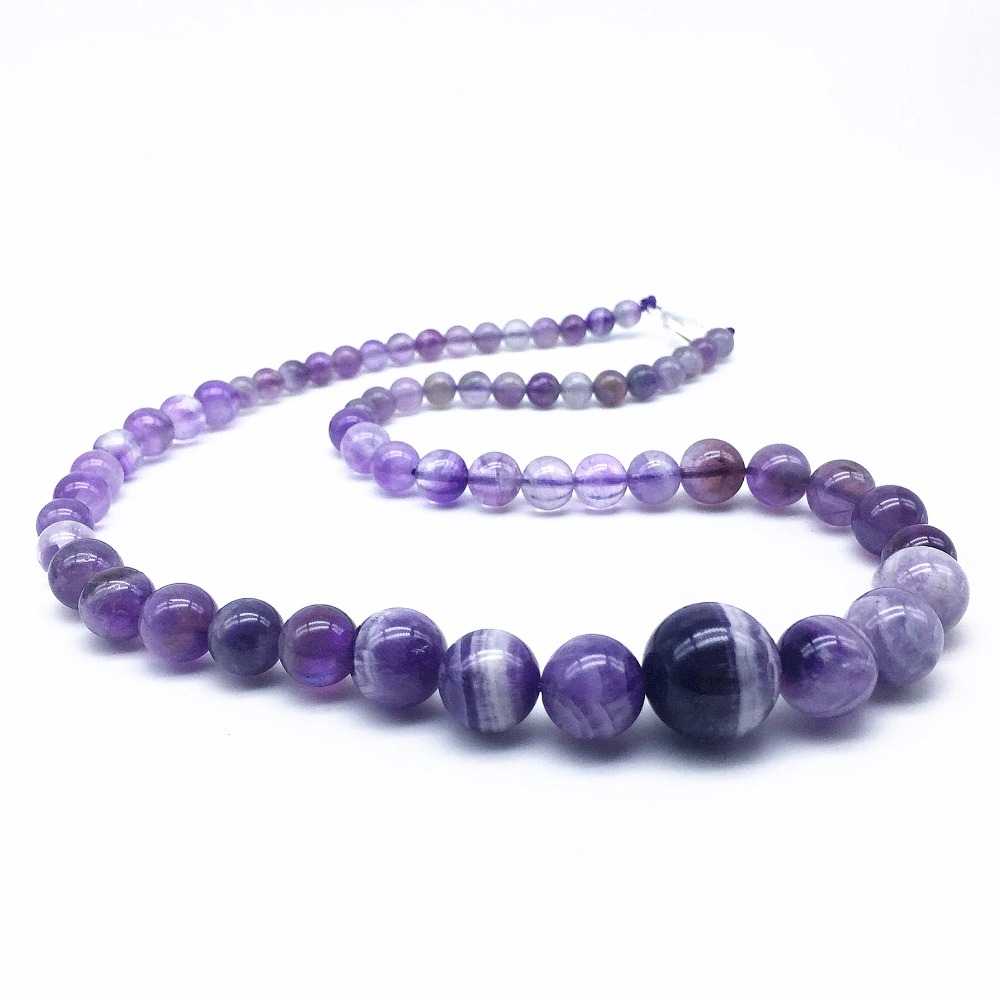 BEADZTALK Natural Graduated Choker Necklaces Stone Beads Round Smooth For Girls or Women Party Necklaces Amethysts Crystals etc natural stone beads necklaces rope necklaces freeform large beads necklace fashion jewelry for party women gift