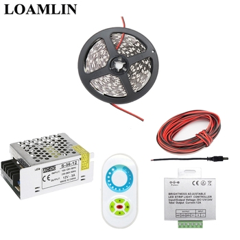 Red Led Light Strip | 5~20M Led Strip 5050SMD White/Warm White/Red/Blue Flexible Light,Brightness Adjustable Led Strip Controller Power Adapter Kit