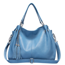 Soft Leather Luxury Handbags Women Bags Designer Handbags With Tassel Shoulder Bag Large Capacity Shopping Bag цены