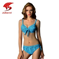 2016 New Snake Skin Pattern Bikini Set Push Up Swimwear Conservative Swimsuit Mid Waist Super Sexy
