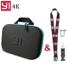 цена на Xiaoyi 4K Storage Bag EVA carrying Case with Neck Lanyard Strap Buckle For Xiaomi Yi 4K 2 Lite mijia Bag Yi camera Accessories