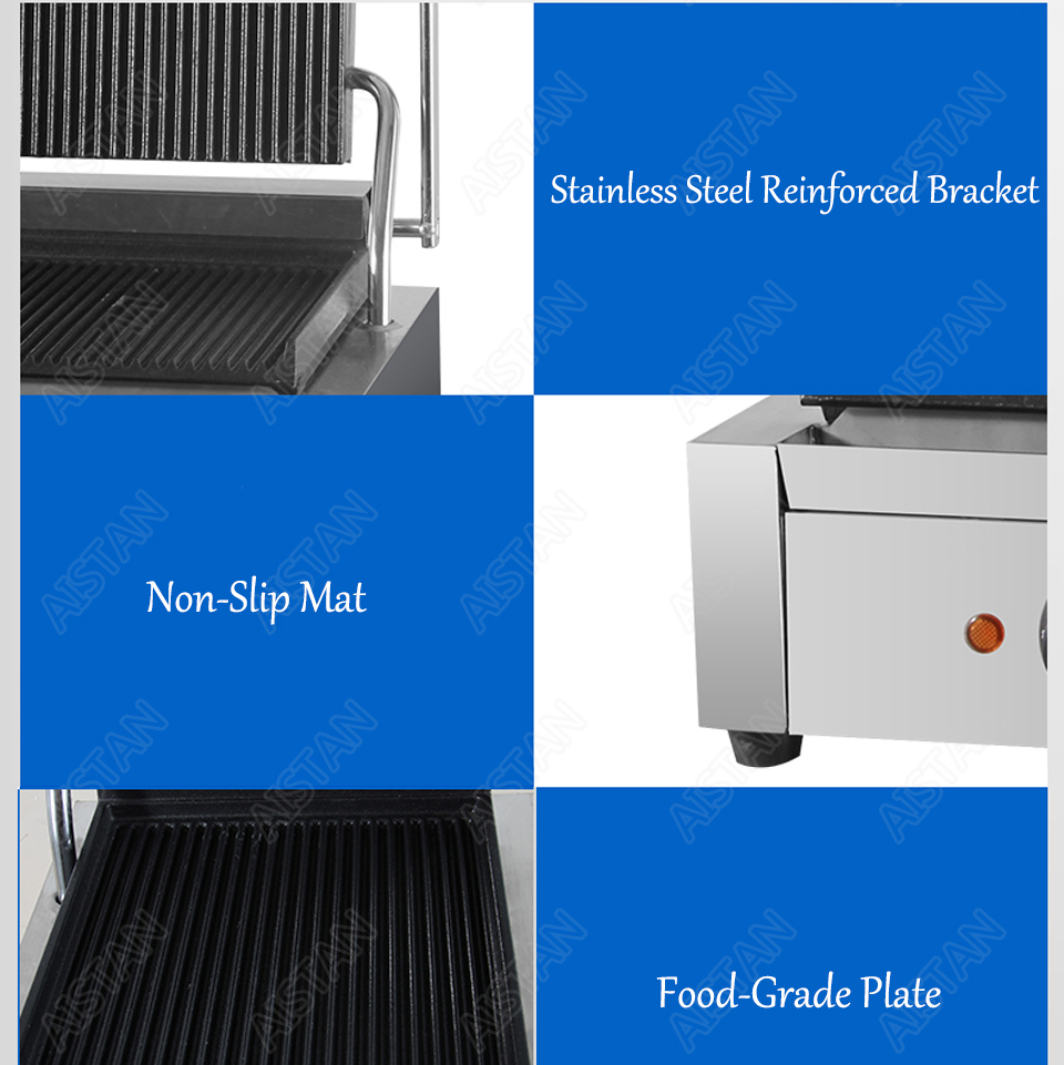 EG811/EG813/EG815 Single/Double Plate Commercial Electric Table Top Panini Grill Machine of Catering Equipment 5