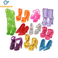 10 Pairs of Doll Shoes for Barbie Dolls Colorful Assorted Fashion Doll Shoes Heels Sandals Accessories Outfit Dress Xmas Gift