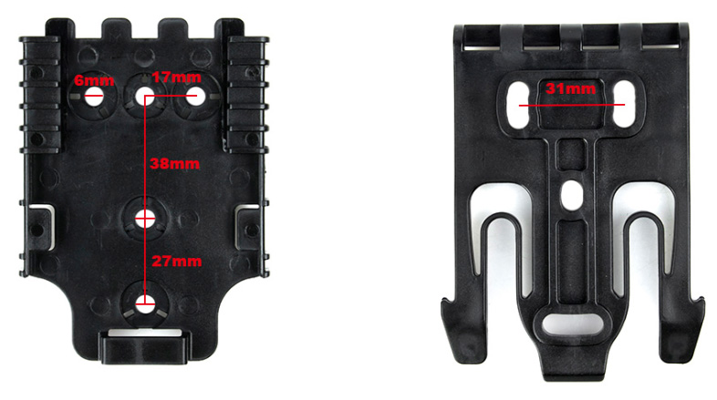 Realistic Tmc Tactical Duty Holster Quick Locking System Fork & Receiver Plate Kit Set(stg051166) 100% High Quality Materials
