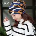 New Arrival 3 Use Hat Knitted Scarf & Winter Hats for Women Striped Beanies Hip-hot Skullies Girls Gorros Women Beanies