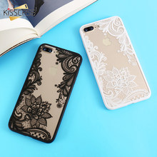 KISSCASE Phone Cases For iPhone 6 6s Plus 7 7 Plus 5 5s SE Luxury Lace Flowers TPU Cover Case For iPhone 7 7 Plus 8 8 Plus X 5s