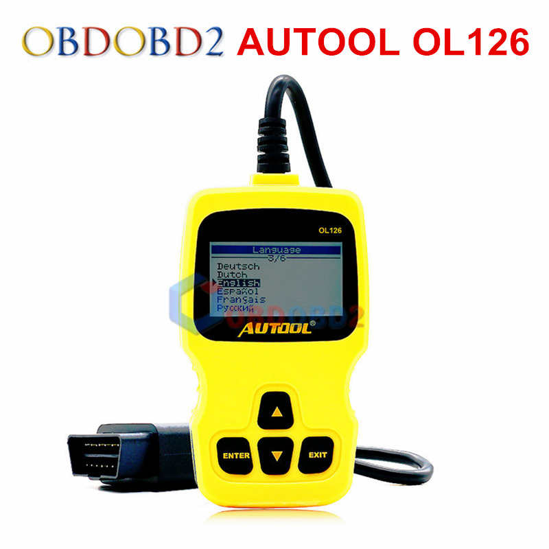 Auto Diagnostic Scanner AUTOOL OL126 OBD/EOBD Engine Fault Code Reader Car Diagnosis Scan Automotive Tool Exceed AUTEL AL319  цены