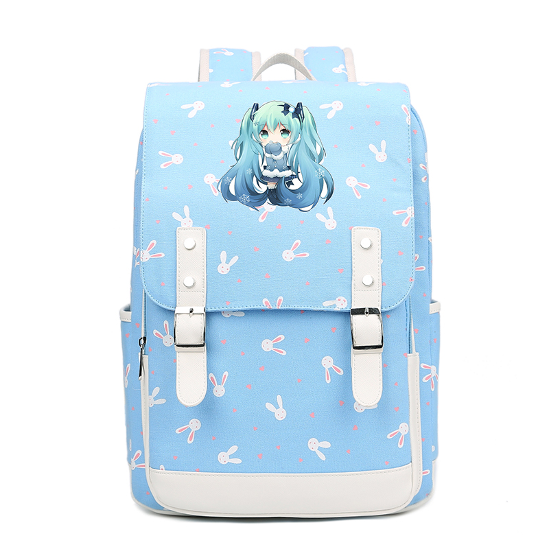 Vocaloid Hatsune Miku Backpack Anime backpacks Canvas for children boys and girls cute fashion teenager Student School Bag FT все цены
