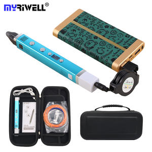 Myriwell 3D Pen LED Screen Smart 3D Printing Pen Mobile Power Supply USB Charging 3D Pens Child Creative Toy Birthday Gift