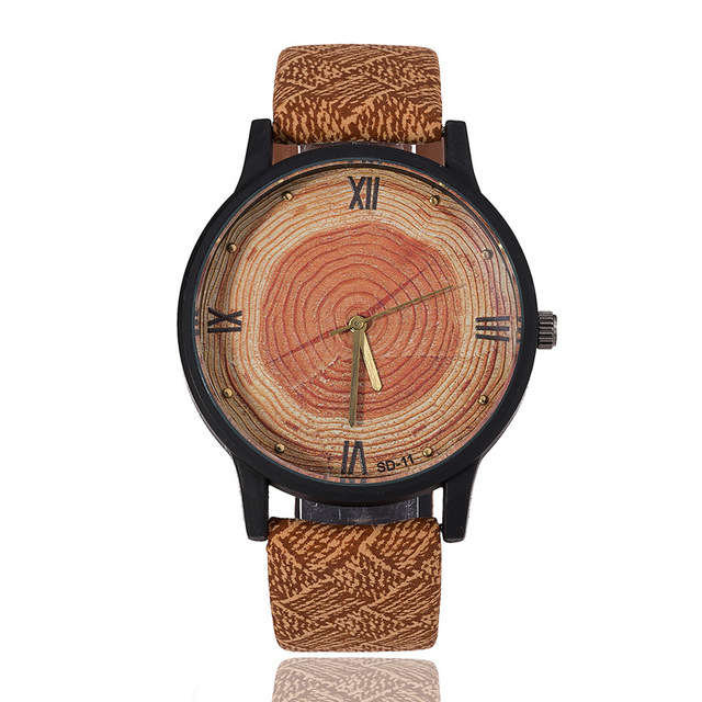 Watch Men 2018 Casual Luxury Brand Wood Retro Men Watch Vintage Leather Quartz Clock Woman Fashion Wooden Wristwatch Reloj Mujer 5