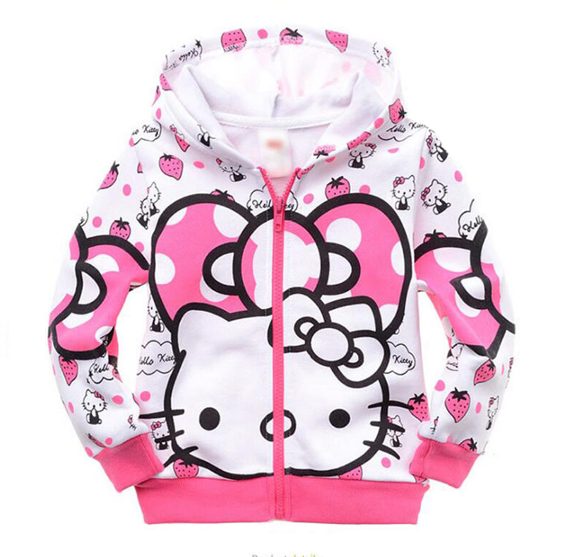 aa2aefb39 New Arrival Hello Kitty Hooded Outfit Sweatshirt Casual kids Clothes ...