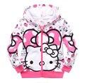 Новое Прибытие Hello Kitty С Капюшоном Экипировка Толстовка Повседневная детская Одежда Весна Осень Зима Для Девочек Дети Дети Пальто
