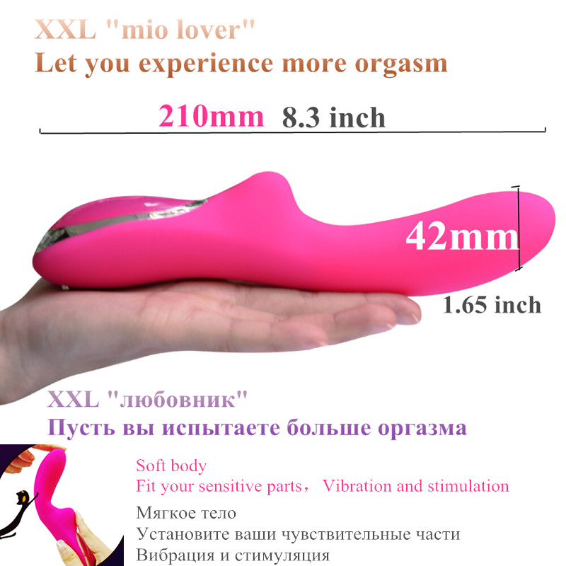 MIO Powerful Clit Big Vibrators for Women Magnetic Charge USB Vibrator XXL Size Massager Adult Sex Toys for Woman Masturbator in Vibrators from Beauty Health