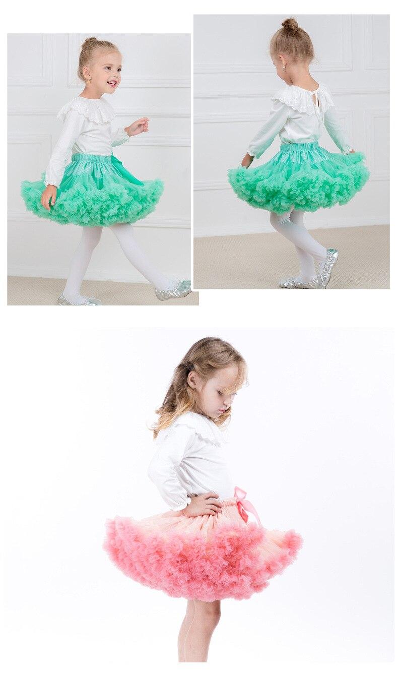 skirts for girls cute perform costume Childrens clothes size3T Baby Girl Tutu skirt fluffy gauze pettiskirt tulle Ballet dance 6