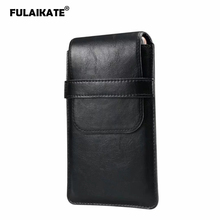 "FULAIKATE 7.2"" Multiple Sizes Universal Bag for All Mobile Phone Thin Waist Pouch for Xiaomi Max3 Huawei Honor 8X Max Mens Case"