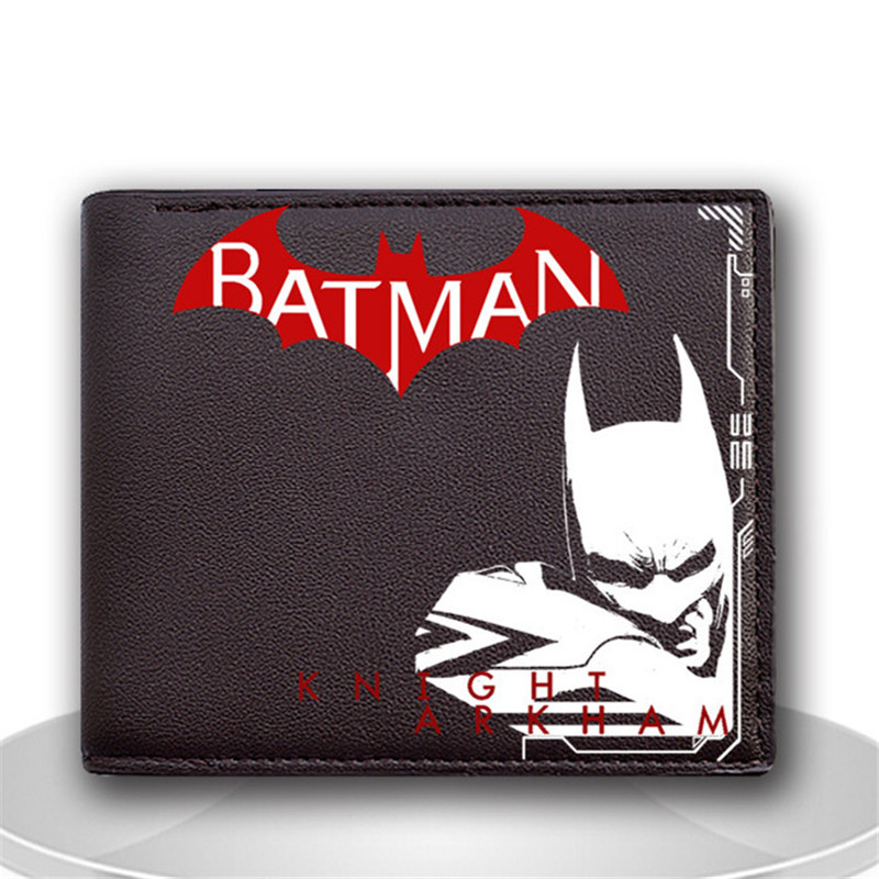New Arrival High Quality PU Leather Anime Wallet Batman Wallet for Men And Women Purse Cartoon Wallet With Card Holder moana maui high quality pu short wallet purse with button