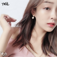 Young girl heart is tender and melting love ear nailed Korea temperament contracted go all out short paragraph earring