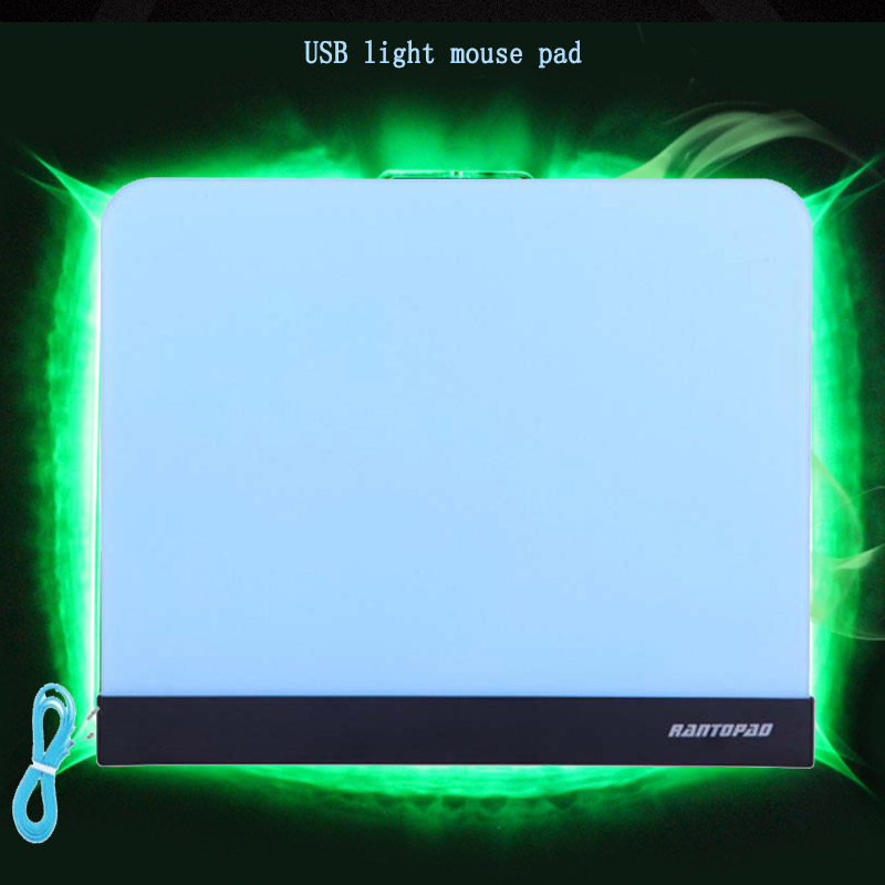 RANTOPAD High Quality 263X223X4MM Gaming Mouse Pad Notebook Computer USB Interface Color Light Professional Competitive Wear Pad