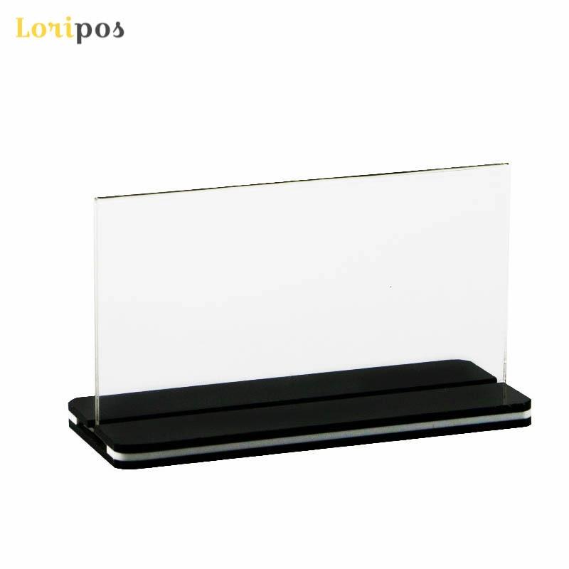 Buy Cheap A5 Menu Stand Counter Cashier Desk Sign Holder Menu Stand Plastic Frame Photo Frame Advertising Food Poster Frame Price Display Desk Accessories & Organizer Card Holder & Note Holder