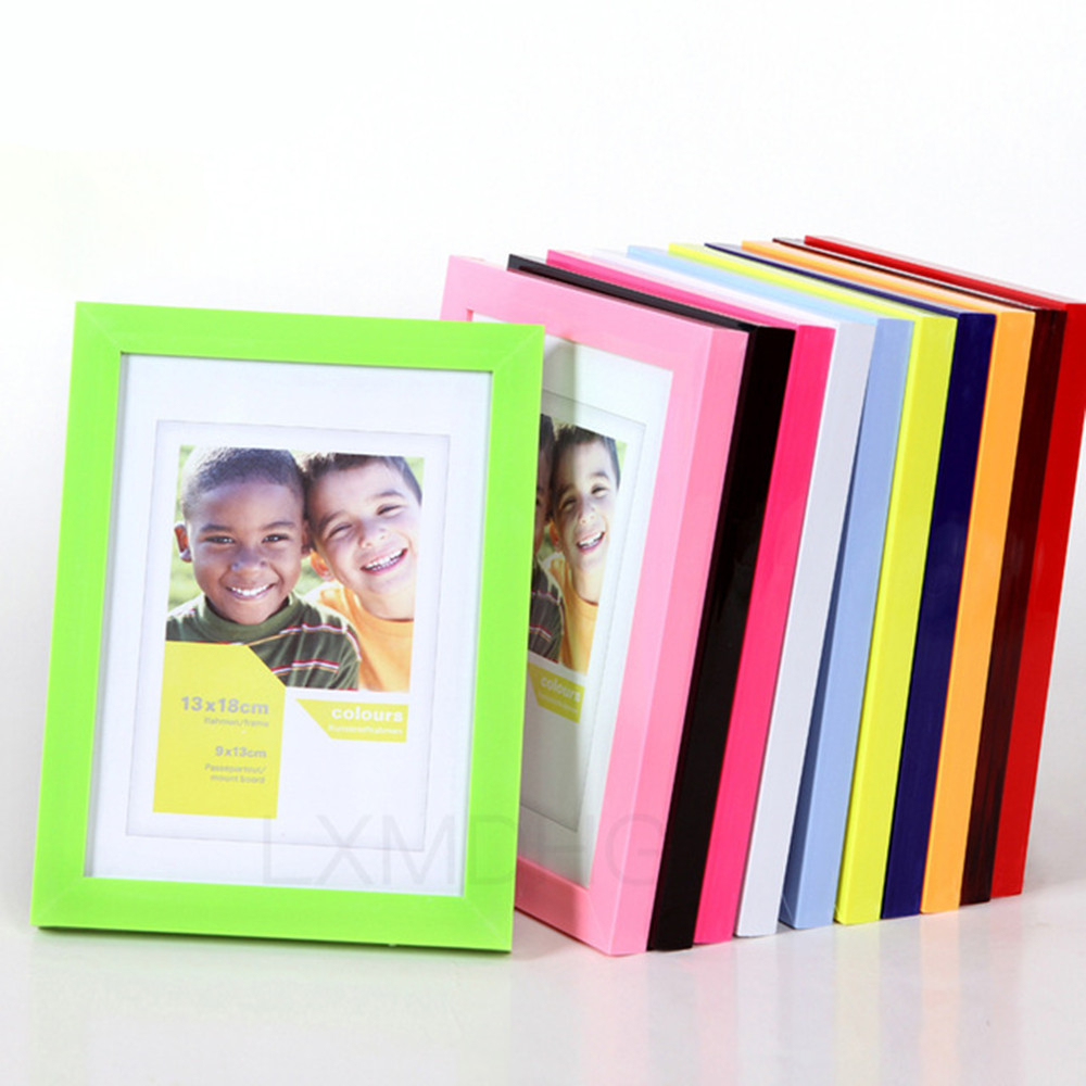 5,8 Inch Plastic Photo Frame Acrylic Wood Card Backplane Stand Table Display Photo Quadro Decoration TV Wall Frame Best Gift