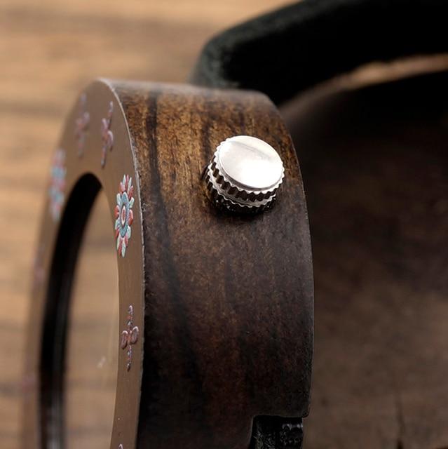 Zegarek drewniany Dark Flowers