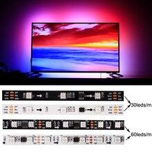 RGB LED Strip DC 12V/24V 60LEDs/m Full Colour Gradient Ambilight SMD5050 LED Light Strip Use For LED TV Kitchen Night Decoration