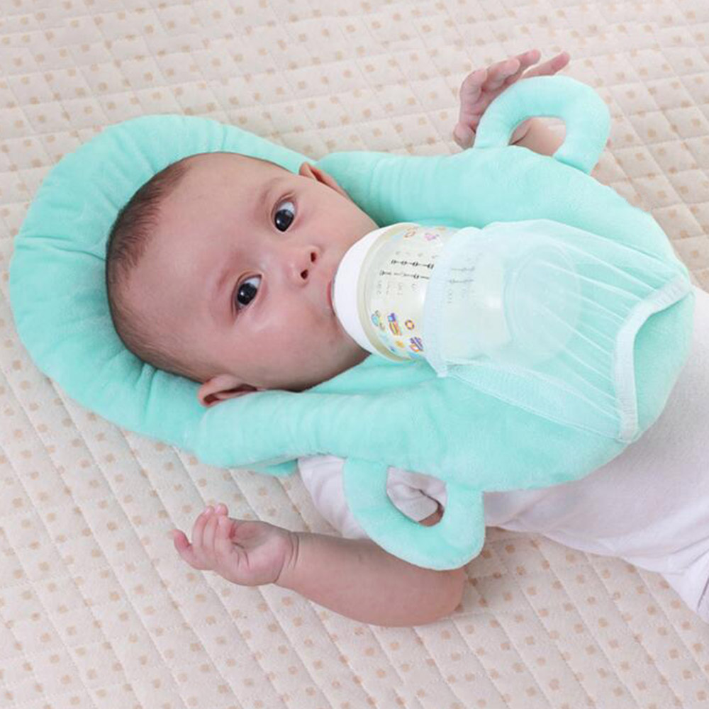 Multi-function Baby Head Protective Milk Feeding Pillow Concave Newborn Cartoon Soft Kids Shaping Pillow Hollow Out Pillows