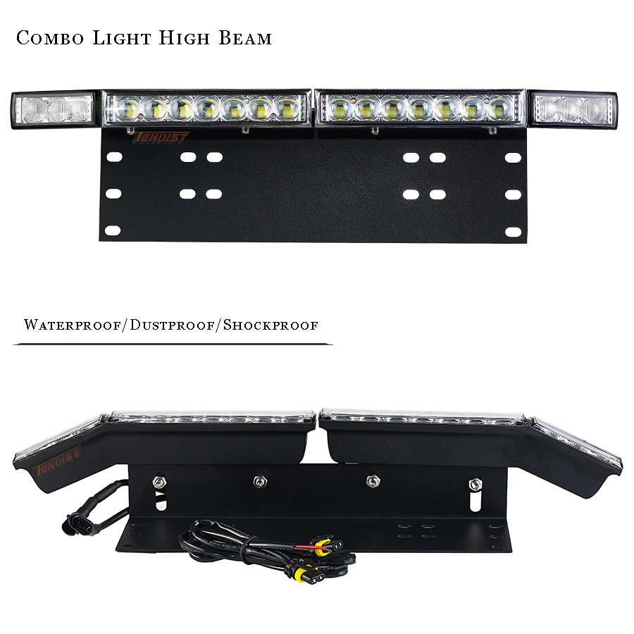 Image 2 - Universal 5D Lens LED Front Bumper License Plate Wide View Combo Light For Car SUV ATV Pickup 12/24V High Beam Headlight Bulbs-in Light Bar/Work Light from Automobiles & Motorcycles