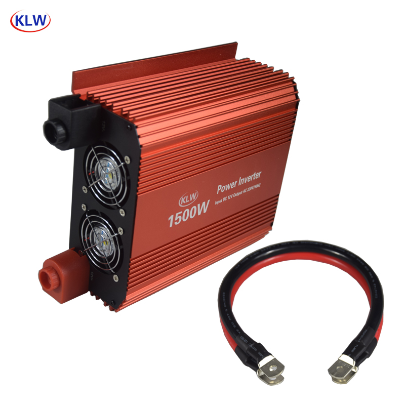 5V 2.1A USB 1500W Watt DC 12V to AC 220V Portable Power Inverter Charger Converter Adapter DC 12 to AC 220 Modified Sine Wave