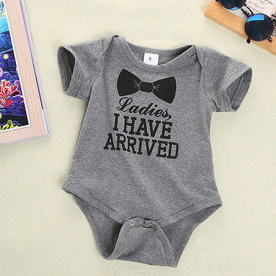 6ff6129e4c6 Newborn Baby Boys Girls Bowtie Short Sleeve Romper Playsuit Crotch Opened  Available Infant Boy Outfits UK 9 12 18 24