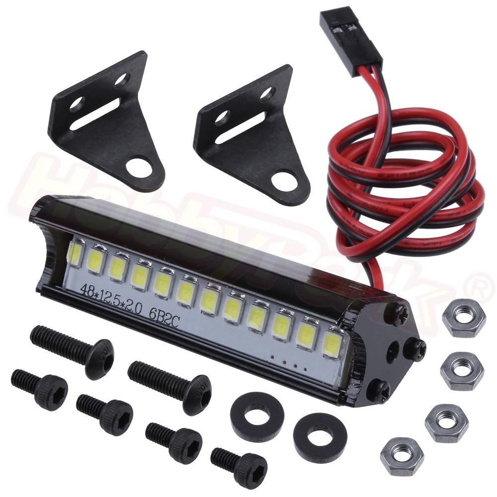 1*Quality Metal Roof Spotlight Searchlight LED 5W for 1//10 RC Car TRX4 D90 D110