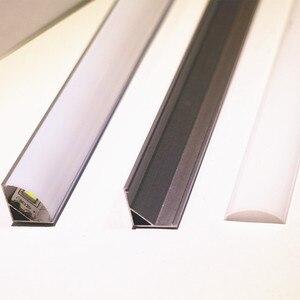 Image 3 - Profilé en aluminium pour bande led, 10 20 pièces, DHL1m, pcb 10mm, 5050, 5630, boîtier en aluminium, canal avec couvercle et clips
