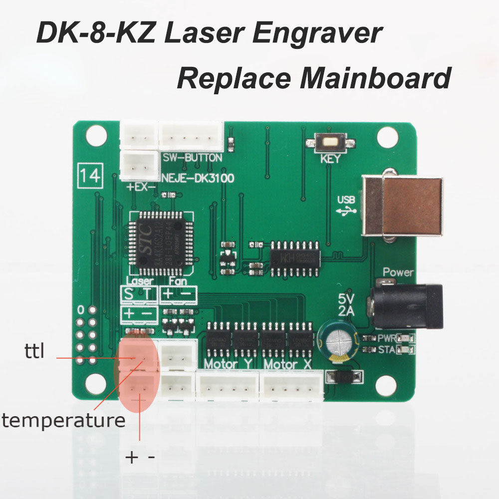NEJE DK-8-KZ Laser Engraving Machine Replaceble Part Replace Mainboard