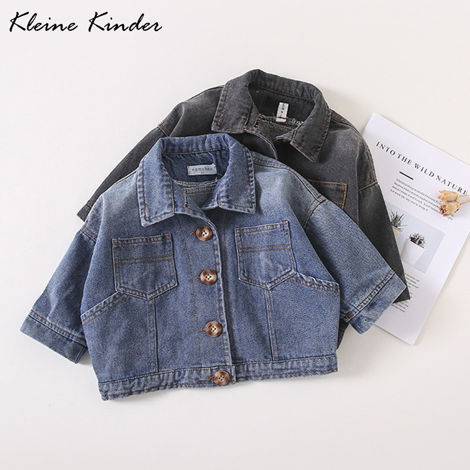 Baby Coat 2018 Winter Autumn Tops Wash Soft Denim Jacket for Girls Boys Jeans Jackets for Kids Toddler Children Outwear Clothing