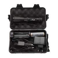 Zoomable CREE XML T6 LED Flashlight Super Bright Adjustable Focus Torch Lamp Adjustable Focus Battery Charger