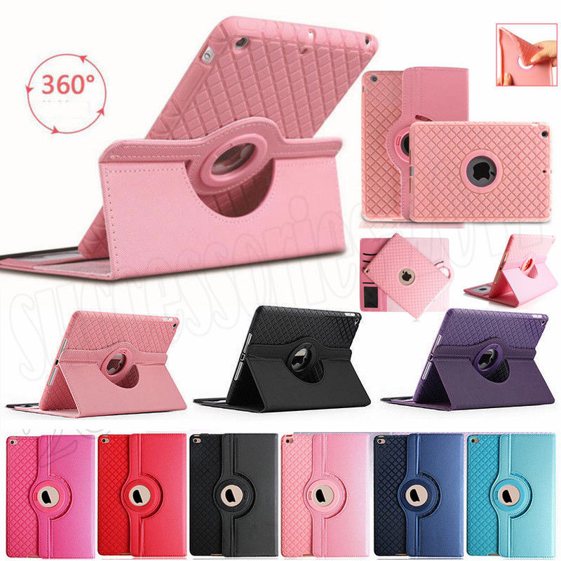 For Apple iPad Pro 12.9 Cover Case 360 Rotating Flip Smart Stand Cover for iPad Pro 12.9 2017 PU Leather Protect Fundas