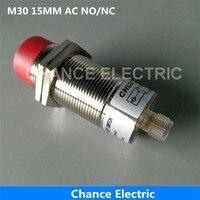 Sensörü Konnektörü M30 15mm Mesafe YOK/NC/NO + NC Kablo Olmadan Yarım Setleri Endüktif Yakınlık Sensörü AC