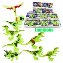 8PCS/LOT Jurassic Dinosaur world Figures Tyrannosaurs Rex Building Blocks Compatible With Legoings Dinosaur Toys BKX39 все цены