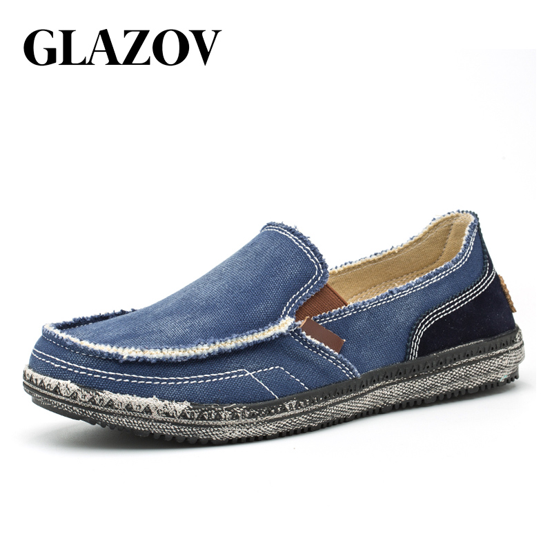 GLAZOV New Arrival Spring Mens Breathable High Quality Casual Shoes Jeans Canvas Casual Shoes Slip On men Fashion Flats Loafer все цены