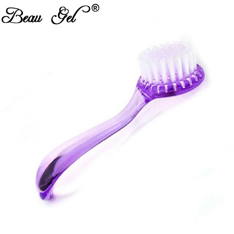Beau Gel Nail Cleaning Clean Brush Tool File Manicure Pedicure Soft ...