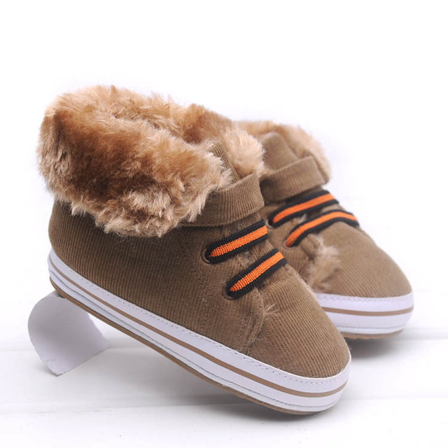 2016 new baby boys shoes snow boots warm cotton boot non-slip soft sole boots baby winter toddler shoes first walkers boots