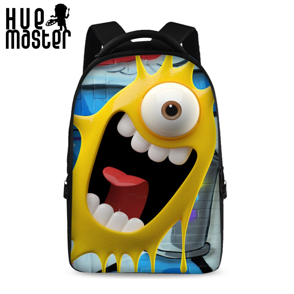 HUE MASTER 17 inch computer backpack college student package travel leisure backpack soft shoulders funny pattern laptop bags hue starterkit
