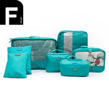 7 Sets Lightweight Travel Packing Cubes Portable Waterproof Breathable Luggage Packing Organizers with Cosmetic Bag Shoes Bag