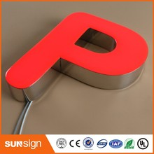 elegant Resin Alphabet Letters for Outdoor LED back Illuminated neon Signs