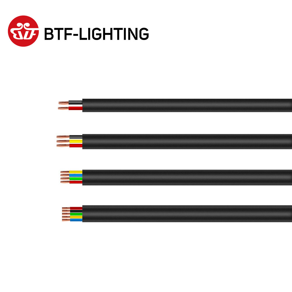 10m 2pin/3pin/4pin/5pin Outdoor Waterproof Electrical Cable 24/22/20/18/17 AWG Extend PVC Wire LED Strip Extension Cable Power