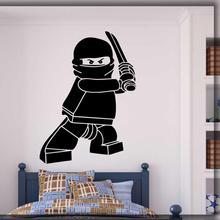 Cartoon wall decal legoings gamer room art waterproof vinyl sticker for kids bedroom boys decoration G532
