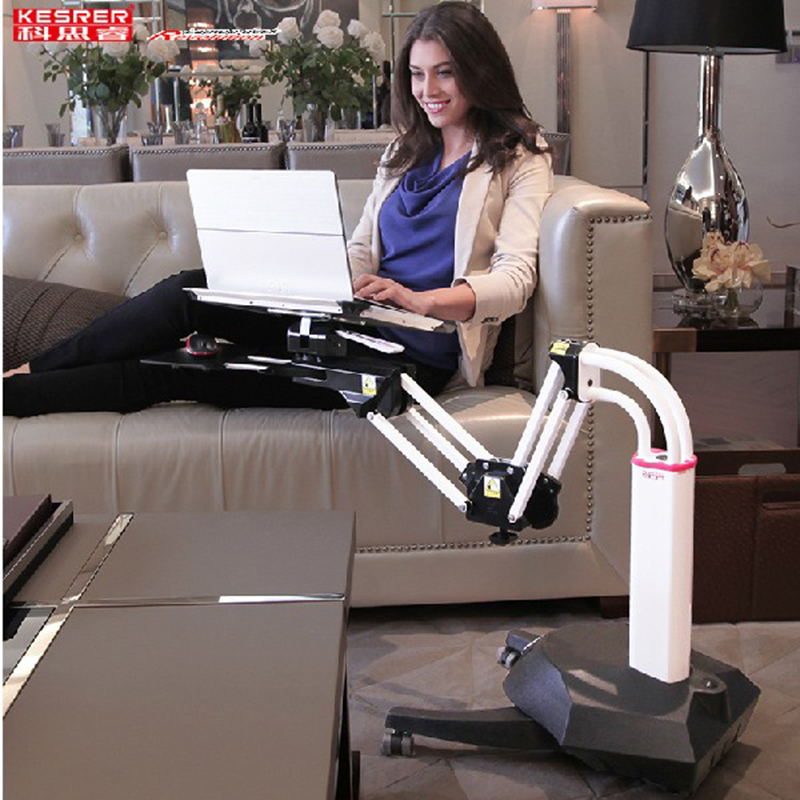 Kesrer01 Full Motion Long Arm Multifunctional Moving Laptop Desk Sofa Bedside PS Stand Lazy Lift Mobile Computer Table Kesrer-01