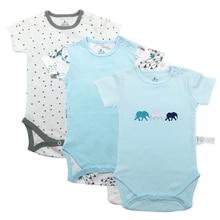 baby babies bebes clothes newborn bodysuit long sleeve cotton printing infant clothing 3pcs 6-24 Months